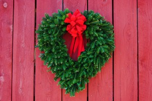 heart shaped fraser fir wreath
