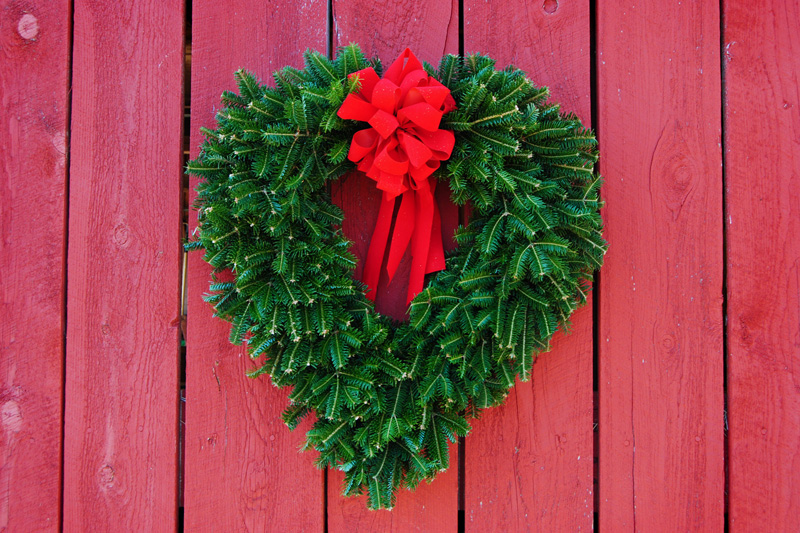 Heart shaped wreath christmas wreaths