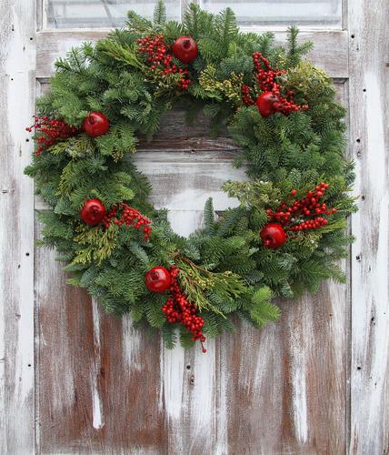 live christmas wreaths - Christmas Garland Wholesale
